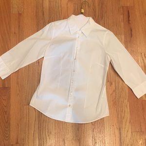 J Crew white button-down shirt